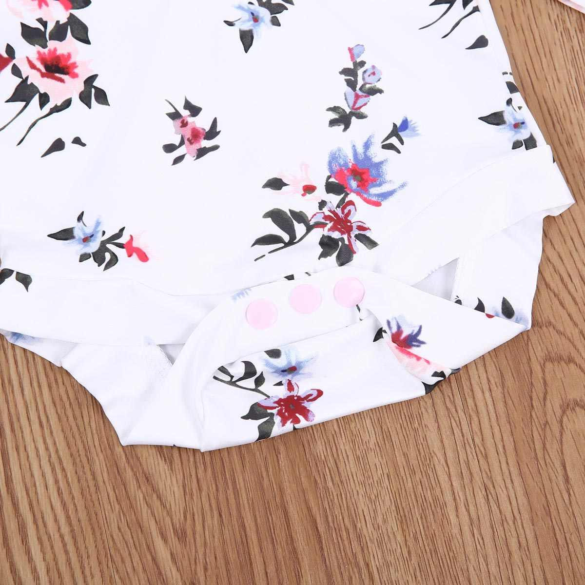 Комбинезон с капюшоном и цветочным принтом для новорожденных мальчиков и девочек