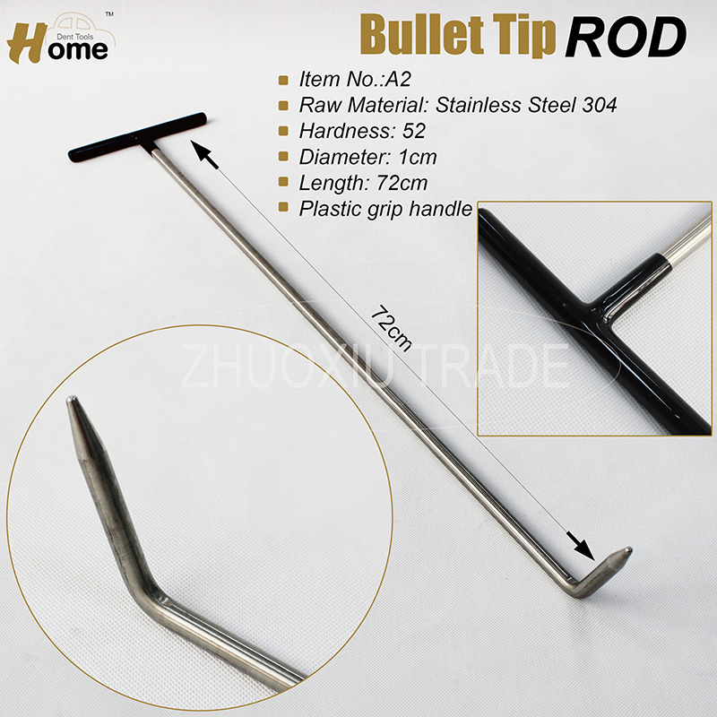 large hook brace PDR dent rod paintless dent repair crowbar dent puller hail repair push dent removal car body work garage tools in Sheet Metal Tools Set from Automobiles Motorcycles