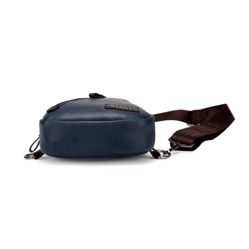 Ny Ankomst Högkvalitativ PU Läder Män Väska Män Bröstpaket - Väskor för bagage och resor - Foto 6