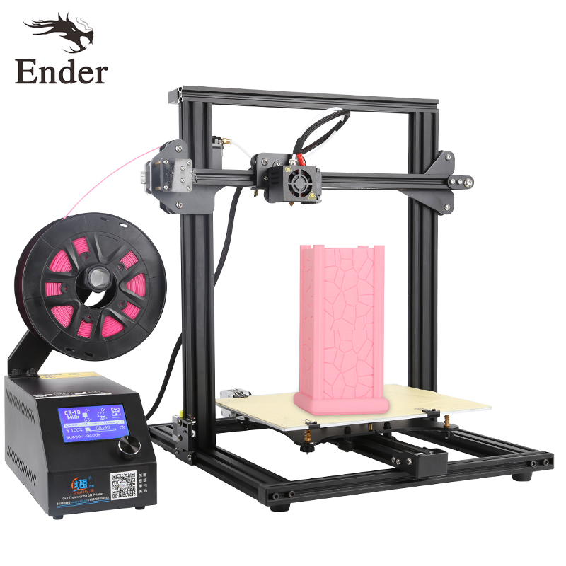 2017 Newest CR-10 Mini 3D Printer DIY KIT Large Print Size 300*220*300mm Printer 3D and 200g Filaments+Hotbed Creality 3D 2017 easy build 3d printer cr 10 large print size 500 500 500mm with filaments hotbed sd card tools as a gift creality 3d