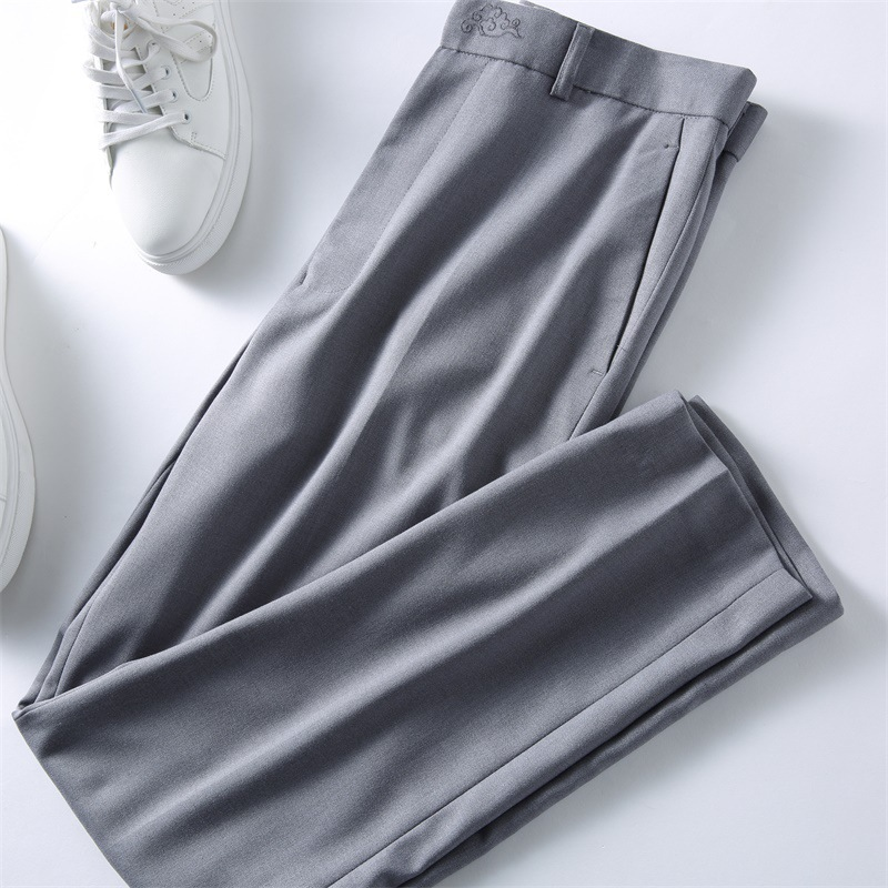 Alert Classic Style Mens Ankle-length Business Pants Slim Casual Trousers Pantalon Homme Solid Social Pant Streetwear Pencil Pant Xk01 Beneficial To The Sperm