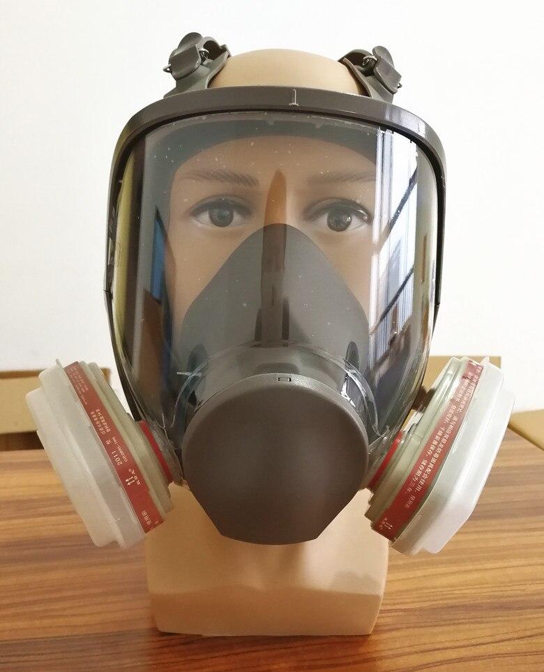 Image 2 - 6800 Gas Mask add SJL 3# Cartridge  7pcs suit Full Face Facepiece  Respirator For Painting Spraying same 3M 6800respirators for  paintinggas maskfull facepiece respirator