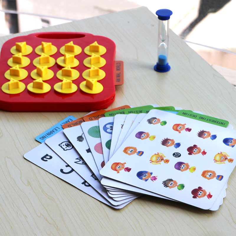 Children Toys Memory Training Matching Pair Game Interactive Parent Child Link Up Chess  ...