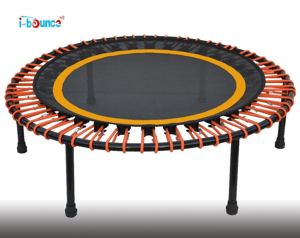 Fitness mini trampoline rebounder with bungee rope suspention 40inch 1 meter Diameter hexagonal fitness bungee trampoline with handrail