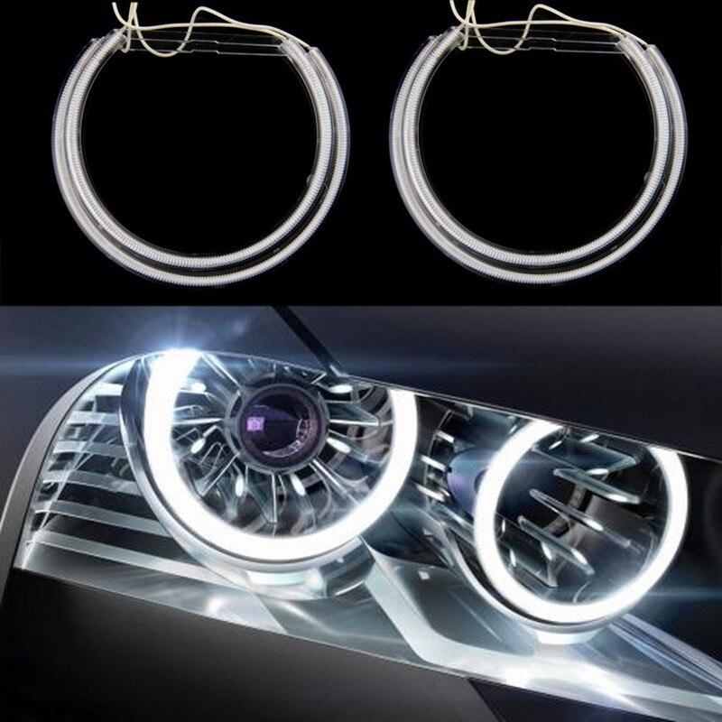 4Pcs Car DRL Daytime Running Light CCFL LED Angel Eyes  6000K Cool White Headlight For BMW E36,E39 Daytime Running Light