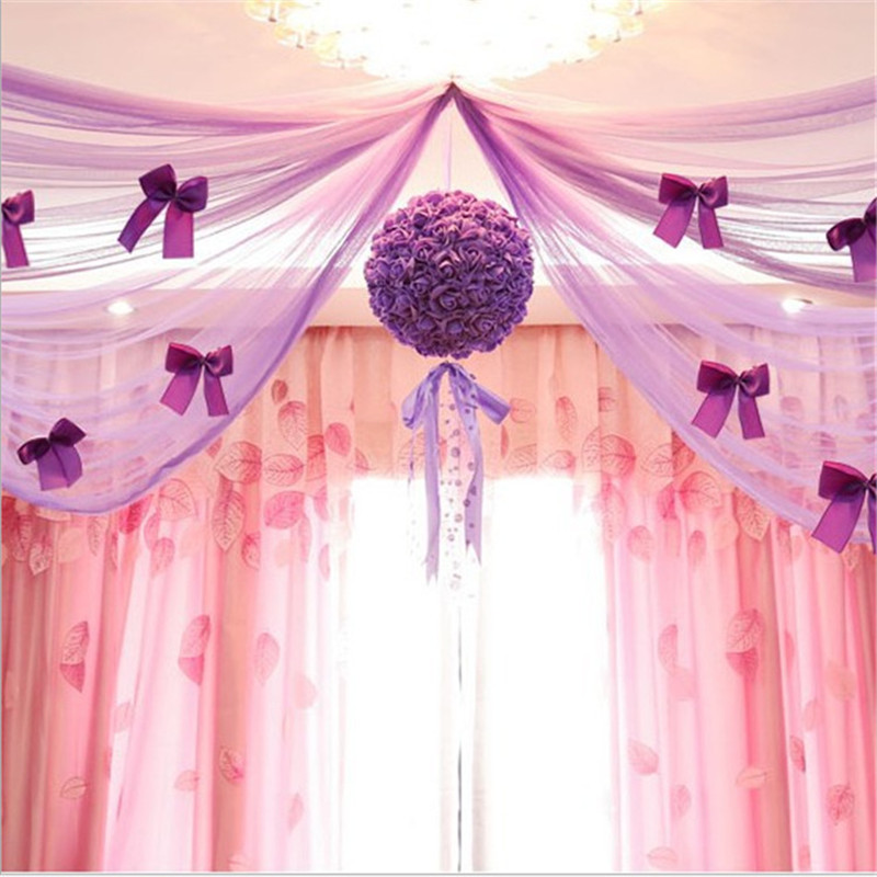 Wedding decoration tulle flower ball centerpieces rose pompom wedding decoration tulle flower ball centerpieces rose pompom bachelorette party decorative artificial flowers foam decor in artificial dried flowers from junglespirit Image collections