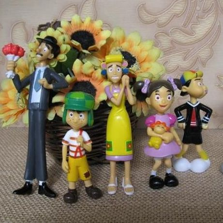 pvc figure El Chavo Kart doll ornaments 5pcs/set