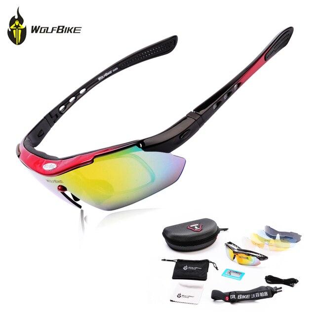 666d93821b WOLFBIKE Professional Polarized Cycling Glasses MTB Road Bike Goggles  Bicycle Fishing Sunglasses Eyewear UV400 with 5