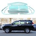 24/14 Unids/set Tiras de Acero Inoxidable Ventana de Recorte Para Toyota Land Cruiser Prado Prius 2010 2011 2012 2013 2014 2015 Car Styling