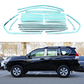 24/14Pcs/Set Stainless Steel Window Trim Strips For Toyota Land Prius Cruiser Prado 2010 2011 2012 2013 2014 2015 Car Styling