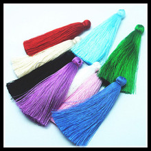 Scharming 10pcs Good Quality Silk Tassel Pendants Charms Necklace Earring Mobile Keychain Making Accessories Size 70mm length