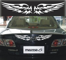 A PAIR 30cm*11cm Angel wings car stickers reflective car styling car decoration car accessories parking +FREE SHIPPING