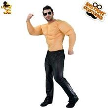 Déguisement d'halloween hommes Costume musculaire carnaval adulte avec Cosplay fête tunique pour noël habiller Cool forte poitrine chemise Costume