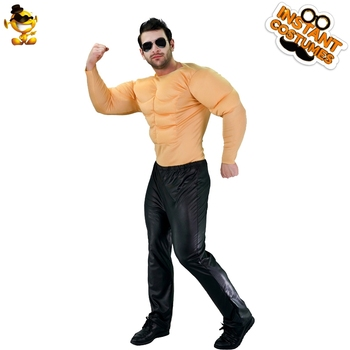 Halloween Costume Men Muscle Suit Carnival Adult with Cosplay Party Tunic for Christmas Dress Up Cool Strong Chest Shirt Costume umorden police officer cops costume for adult women men teen girls policeman uniform halloween carnival mardi gras party dress
