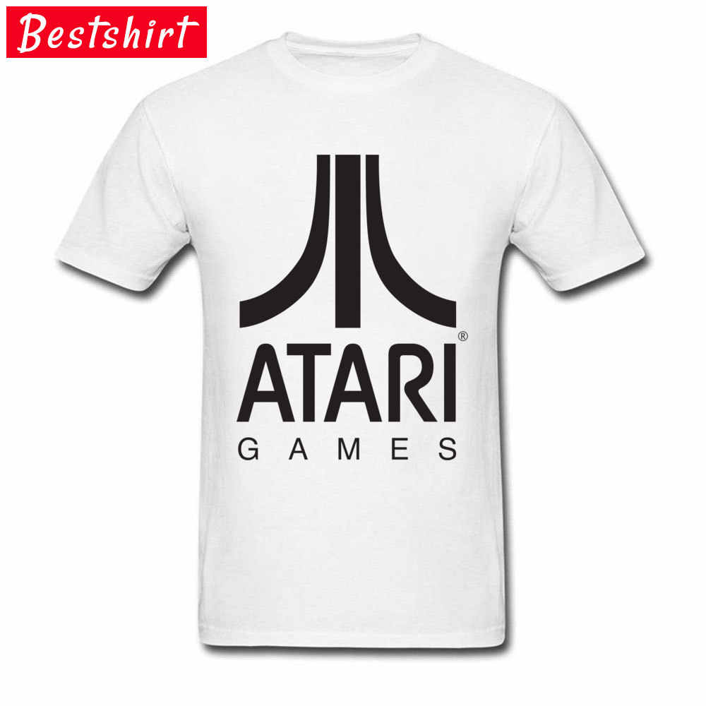 Logo Atari Games Men T Shirts High Quality 100% Cotton Breathable T-Shirt Normal Tee Shirt No Sleeveless Crew Neck Tops Tees