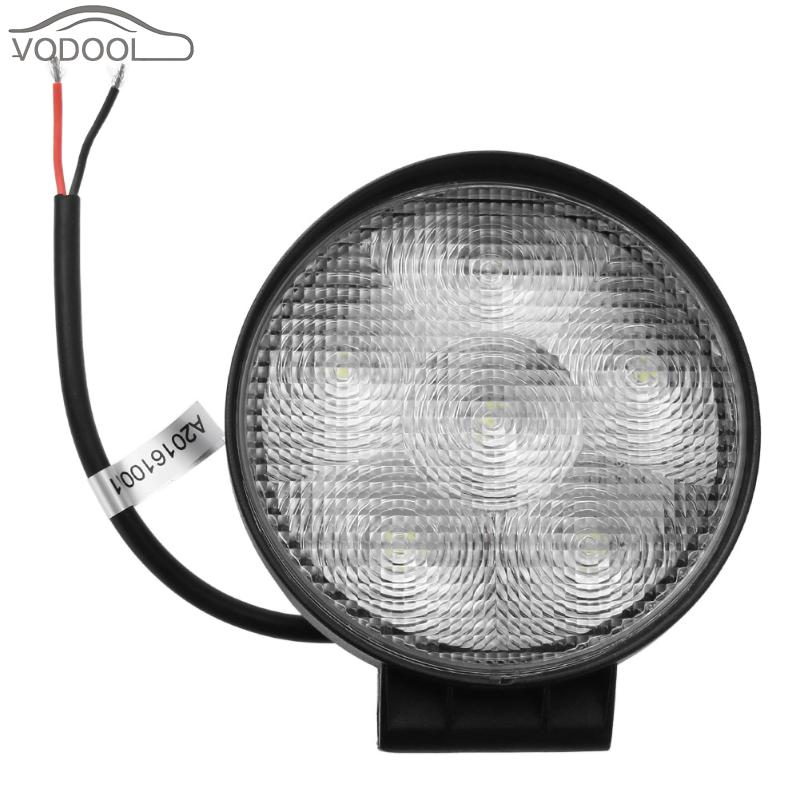 18W Round LED Car Fog Headlight Waterproof Truck Offroad Worklight Lamp Auto Light-emitting Diode Work Light Auxiliary Lighting