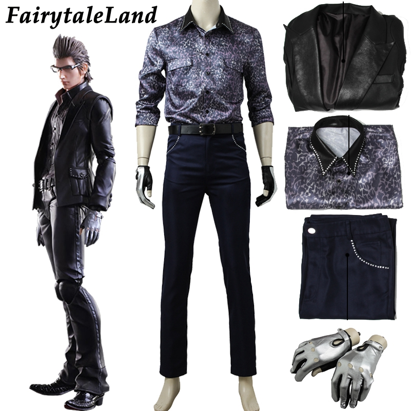 Hot game FF15  Final Fantasy XV Ignis Scientia cosplay costume Accesories Belt coat Cosplay Gloves Ignis pants costume suit