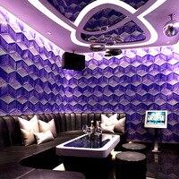 3D space KTV wallpaper stereo personality fashion flash Metallica wall paper bar hotel fancy ballroom box theme room wallpaper