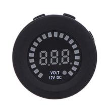 DC 12V Car Motorcycle Yacht Marine Color Voltage Gauge Auto Moto LED Digital Battery Volt Meter Tester Voltmeter Accessories