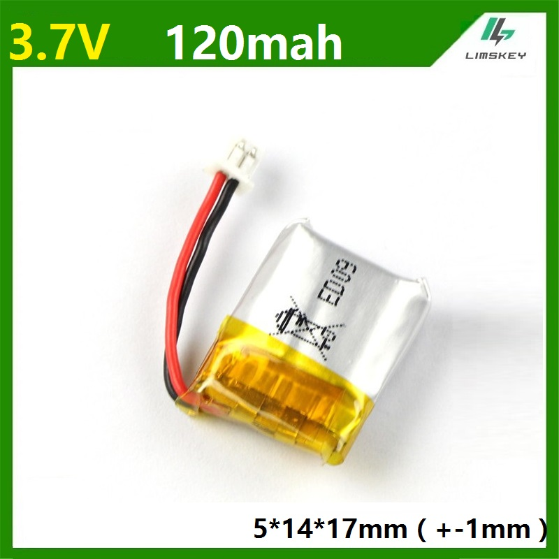 Limskey Brand 3.7V 120mAh Lipo Battery For Cheerson CX10 CX-10 CX-10A RC Quadcopter Spare Parts 120 MAh Li-po Battery