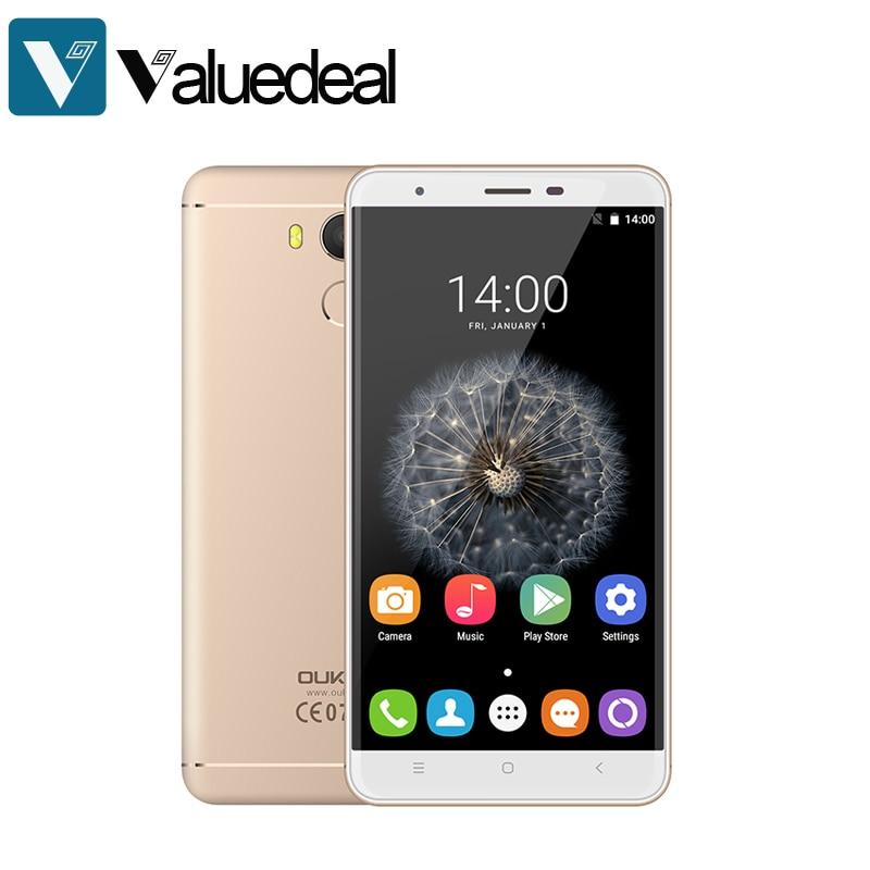 "bilder für Original oukitel u15 pro mt6753 octa-core android 6.0 smartphone 3g ram 32g rom 5,5 ""Fingerprint Handy 3000 mAh Handy"