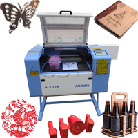 CE FDA! Portable leather, wood, MDF, plastics, acrylic, rubber stamp laser engraving machine/ laser cutting machine desktop