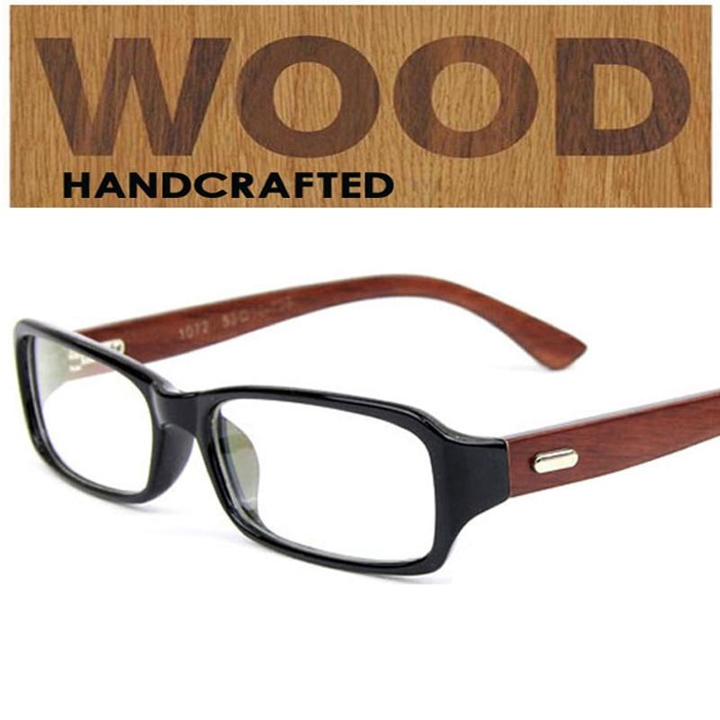 2016 Neue Marke Handgemachte Holz Bambus Tempel Brille Rahmen Optic Nerd Brillen Frauen & Männer Plain Gläser