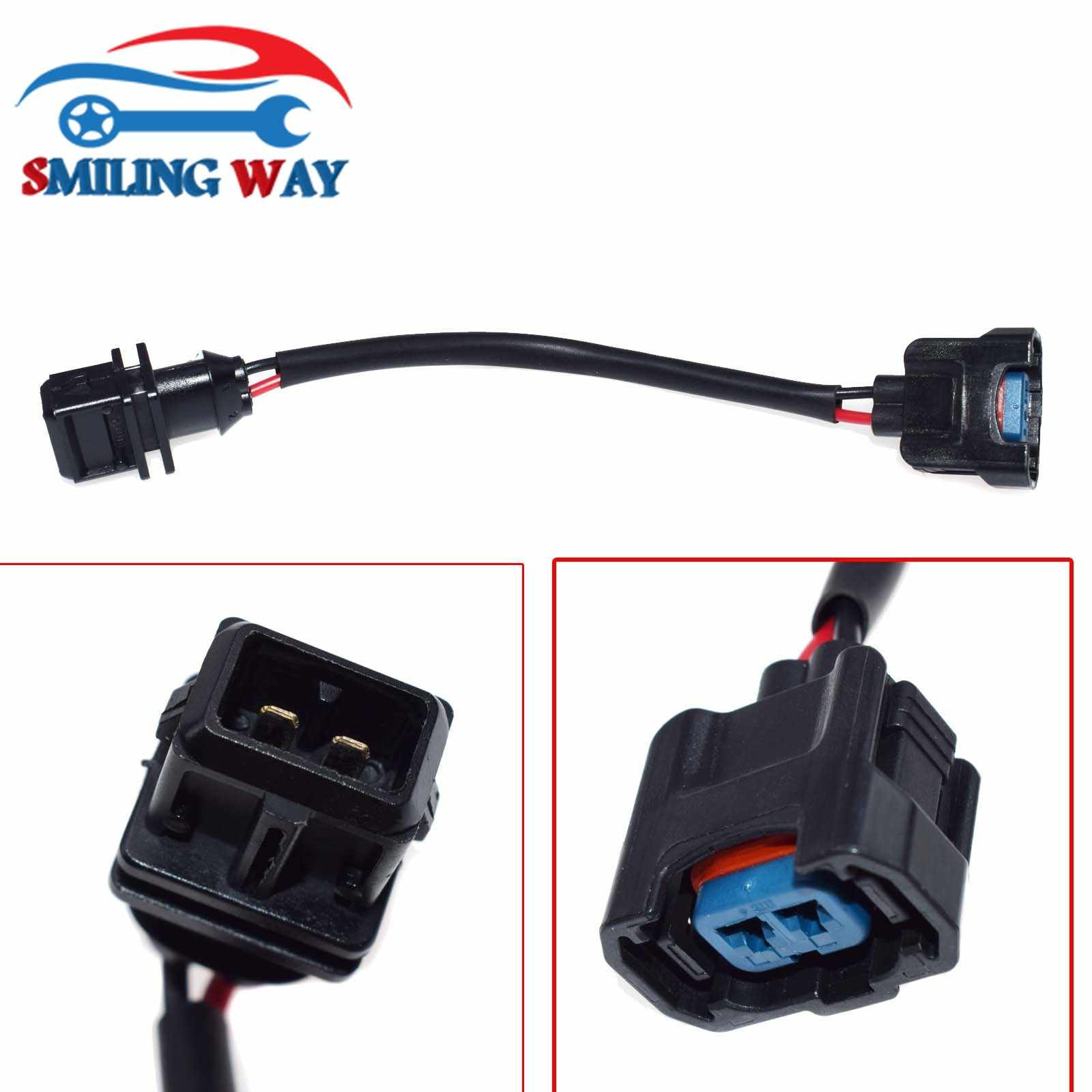 medium resolution of smiling way obd1 to obd2 fuel injector conversion jumper connector wire harness wiring pigtail plug