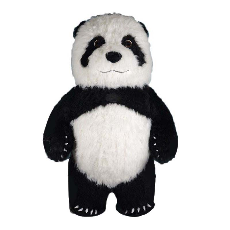 Panda Inflatable Mascot For Advertising 3M Tall Customize For Adult Animal Cartoon Mascotte Costumes Panda Adulte Maskot Kostume