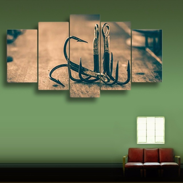 Modular Home Decoration Poster Framework HD Printed Modern Canvas Living Room Pictures 5 Panel bait Painting Wall Art
