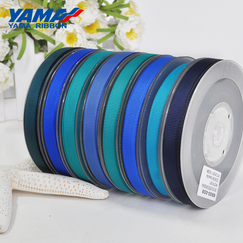 Image 5 - YAMA 25 28 32 38 mm 100 yards/lot Blue Grosgrain Ribbon Perfect for Wedding Decoration Crafts and Gifts Packing Woven Ribbons-in Ribbons from Home & Garden
