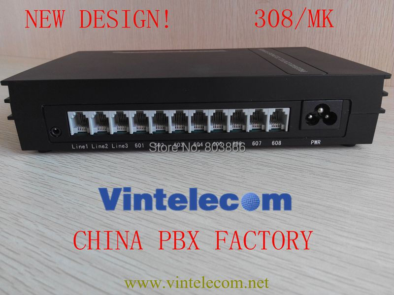 China Factory VinTelecom newly designed MINI PBX PABX MK308 phone system mk308 3co lines and 8 ext vintelecom centralini telefonici pbx pabx phone system centralini pabx hot sell