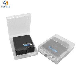 Image 1 - 6 pièces boîtier de batterie Transparent batterie de protection boîte de rangement étanche à lhumidité boîte pour Gopro Hero 7 6 5 noir Xiaomi Yi caméra