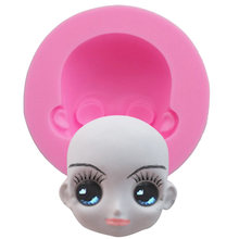 New!Baby Face Silicone Mold Chocolate Polymer Clay Craft Molds Handmade Craft Dolls Face Mold Sugar craft Mould Baking Tools(China)