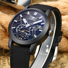 LIGE luxury brand Sport Men's Watch Relogio Masculino Military Leather Mechanical Watches Hollow Clock men Skeleton reloj hombre