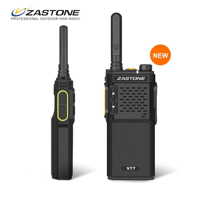 Zastone zt-v77 мини Портативный Двухканальные рации UHF 400-470 мГц 1500 мАч Батарея КВ трансивер Communicator ручной двусторонней ham Радио