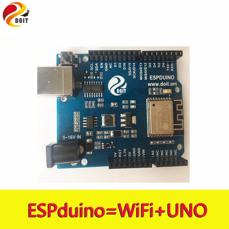 цена на Original DOIT ESPDuino Robot WiFi Controller Compatible with Arduino UNO R3 Development Board from ESP8266 for Robotic Model