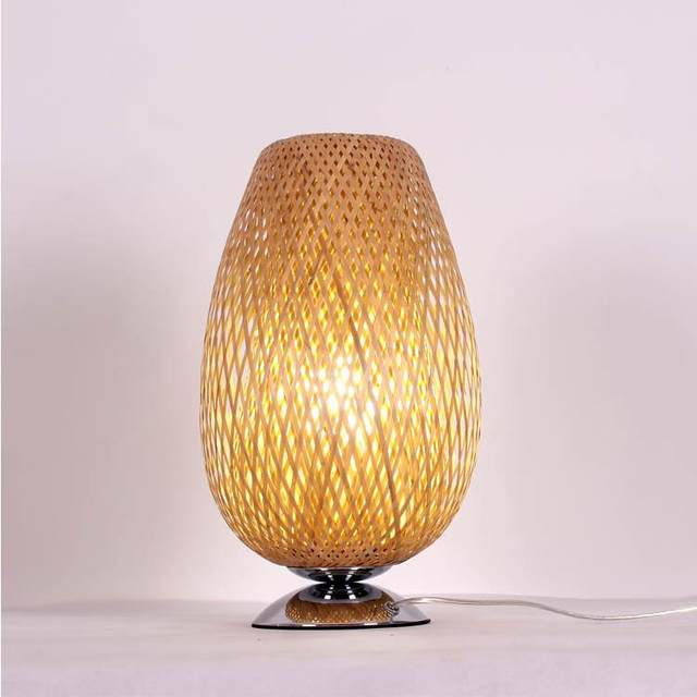 Bedroom Bedside Bamboo Table Lamps Decorative Lamp Creative Retro Stil  Hotel Teahouse Project Lamp LU808143