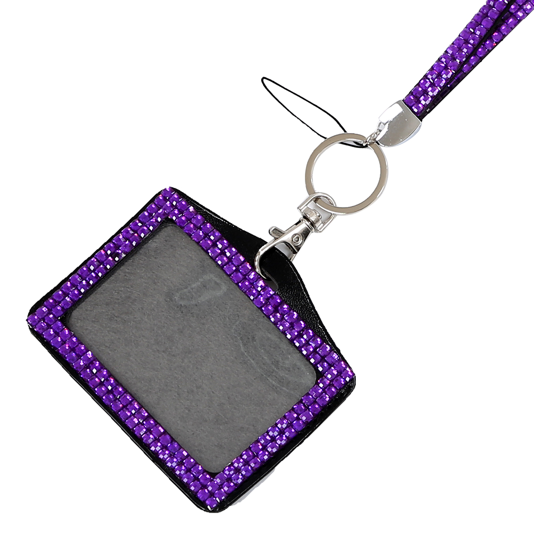 Coin Purses & Holders Nice Fggs-horizontal Resin Rhinestone Work Card Id Case Holder Lanyard Sling High Quality Materials