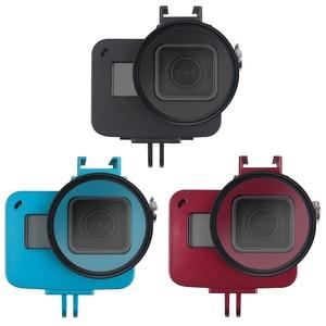 Image 5 - Aluminium Hero 5 6 7 obudowa aluminiowa obudowa ochronna obudowa metalowa rama filtr UV do akcesoriów GoPro Go Pro hero