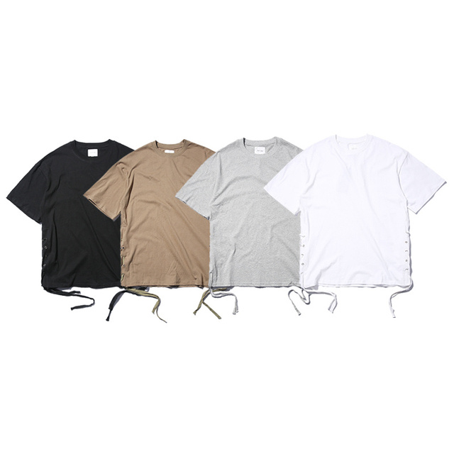 4087a02e753b0 2017 cool new hip hop chic men unisex solid oversized cotton baggy short  sleeve t shirt with string