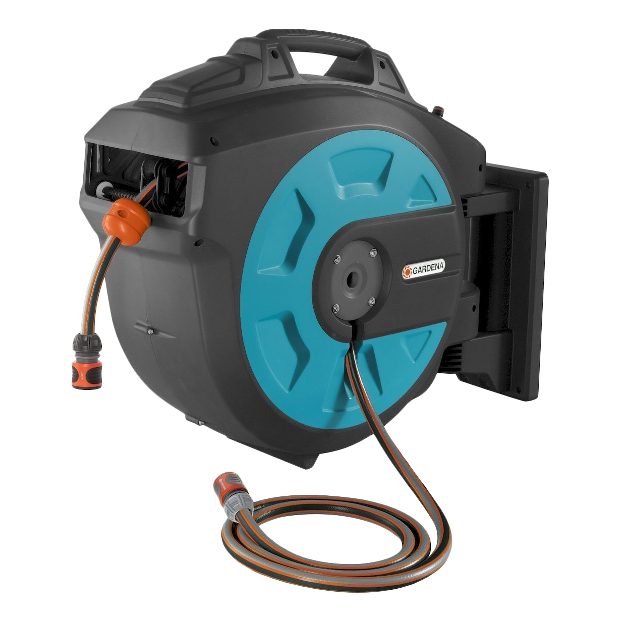 Coil поливочным hose GARDENA 08024-20.000.00 (frost protection, automatic winding hose anti-theft, kinklight 08024