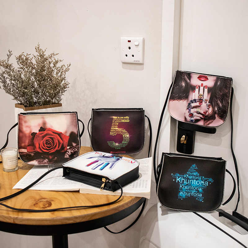 2018 Baru Fashion Wanita Tas Selempang Wanita Bergaya Dicetak Mini Messenger Tas Bahu WML99