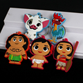 Movie Moana Keychain Maui Hei Hei the Rooster PVC Pendant Keyring Fashion Key chain for Christmas Creative Gift 5pcs/lot