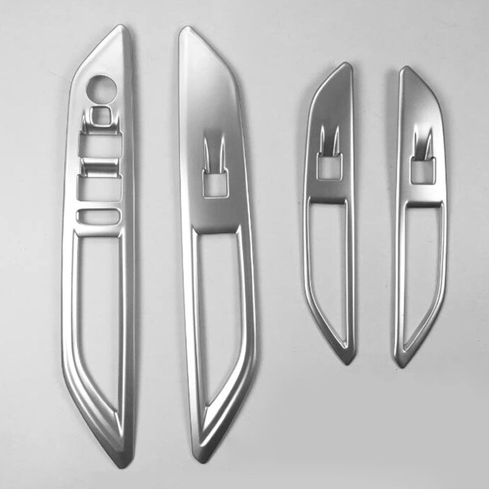 4pcs/set Car Interior ABS Door Armrest Window Lift Switch Trim Cover Mouldings Fit For 2017 Peugeot 5008 Car Styling Accessories
