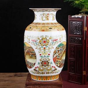 Image 5 - Jingdezhen Cổ Vàng Bình Gốm Riverside Scene tại Thanh Minh Lễ Hội Trung Quốc Bình Sứ