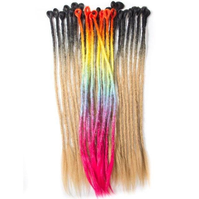 Qp Hair Ombre Hair Locs Crochet Braiding Hair Extensions Synthetic