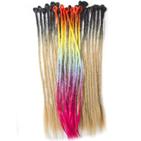 QP Hair Ombre Hair LOCS Crochet Braiding Hair Extensions Synthetic African Ombre Dreadlock Weave Kanekalon Hair