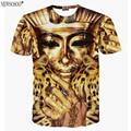 Newsosoo vende bien! 2017 nuevo llega divertido 3D camiseta Faraón de Egipto impresión camiseta de los hombres del verano corto tops & tees DT49