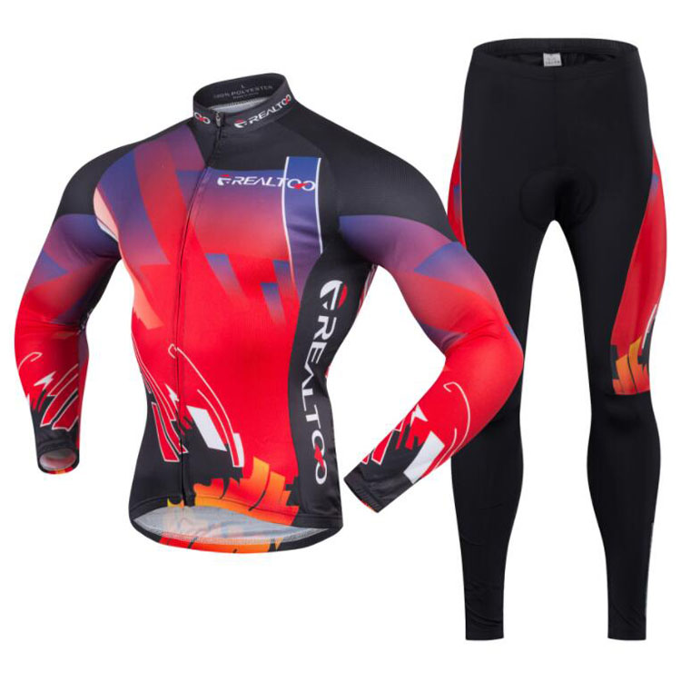 Cycling Jersey Set Mens MTB Bike Sets Quick Dry Long Sleeve Cycling Clothing Breathable Bike Riding Wear Ropa Ciclismo